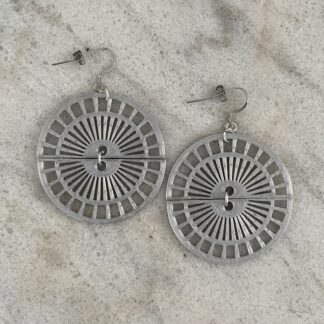 Transition 3D Printed Dangle Earrings- Silver